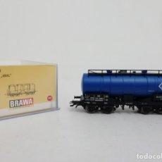 Trenes Escala: BRAWA H0 47070 VAGÓN CISTERNA KESSELWAGEN ARAL NUEVO NEW OVP. Lote 175020900