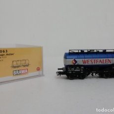 Trenes Escala: BRAWA H0 47063 VAGÓN CISTERNA KESSELWAGEN WESTFALEN NUEVO NEW OVP. Lote 175020995