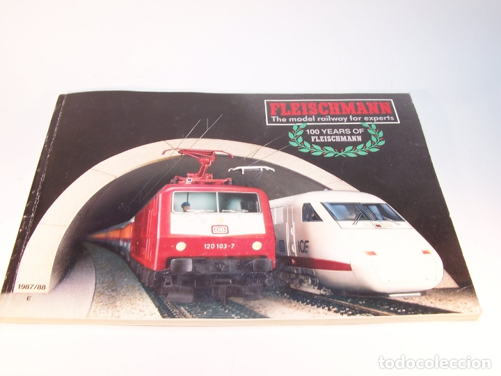 Trenes Escala: Catálogo de trenes. Fleischmann. The model railway for expert. 1987/88. Inglés. - Foto 1 - 175821680