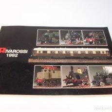 Trenes Escala: CATÁLOGO DE TRENES. RIVAROSSI. 1992. ITALIA. 159 PÁGINAS.. Lote 175821804
