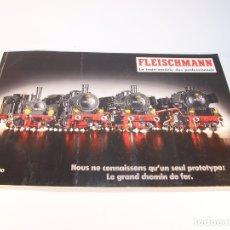 Trenes Escala: CATÁLOGO DE TRENES. FLEISCHMANN. LE TRAIN-MODELE DES PROFESSIONNELS. 1989/90. FRANCÉS.. Lote 175822048