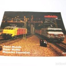 Trenes Escala: CATÁLOGO DE TRENES. MÄRKLÍN. HO. 1989/90 EXPORT MODELS. INGLÉS, FRANCÉS Y NEERLANDÉS. 31 PP. . Lote 175825444