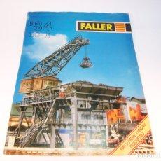 Trenes Escala: CATÁLOGO DE MAQUETAS. FALLER. 1984. HO-N. ALEMANIA. ALEMÁN, INGLES Y FRANCÉS. 15 PP.. Lote 175833400