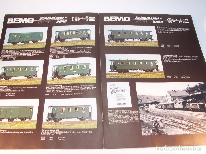 Trenes Escala: Catálogo de trenes. Bemo. 1987. M1. HOe y HOm. Alemania. Alemán. 23 pp. - Foto 2 - 175833692