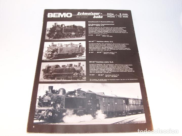 Trenes Escala: Catálogo de trenes. Bemo. 1987. M1. HOe y HOm. Alemania. Alemán. 23 pp. - Foto 4 - 175833692