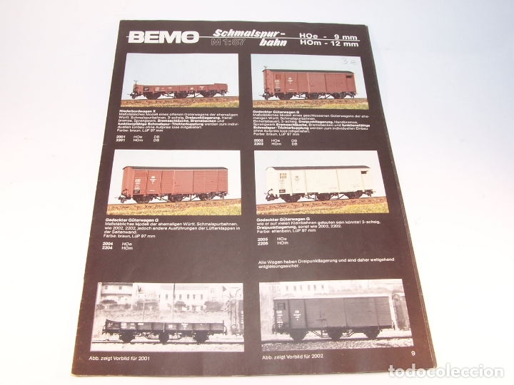 CATÁLOGO DE TRENES. BEMO. 1987. M1. HOE Y HOM. ALEMANIA. ALEMÁN. 23 PP. (Juguetes - Trenes - Varios)