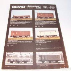Trenes Escala: CATÁLOGO DE TRENES. BEMO. 1987. M1. HOE Y HOM. ALEMANIA. ALEMÁN. 23 PP.. Lote 175833692