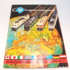 Trenes Escala: CATÁLOGO DE TRENES. ROCO INTERNACIONAL. N - HOE - HO - O. ALEMÁN. 75 PP. . Lote 175834227