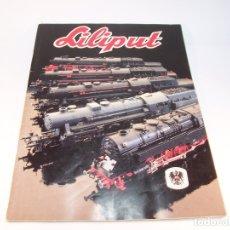 Trenes Escala: CATÁLOGO DE TRENES. LILIPUT. 1981. 84 PP. INGLÉS Y ALEMÁN.. Lote 175850540