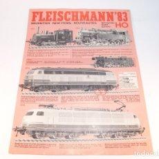 Trenes Escala: CATÁLOGO DE TRENES. FLEISCHMANN. 1983. HO. NEW ITEMS. EN INGLÉS, FRANCÉS Y ALEMÁN. 6 PP.. Lote 175851085