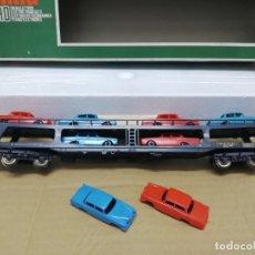 Trenes Escala: LOTE VAGON PLATAFORMA DE VEHÍCULOS + 2 COCHES EXTRA. . Lote 176725144