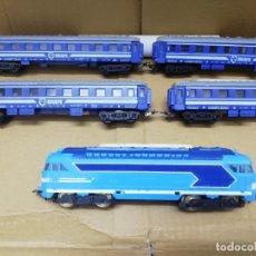 Trenes Escala: TREN PAYA H0. LOCOMOTORA 67000 + 4 VAGONES RENFE. PERFECTO ESTADO.. Lote 177383263