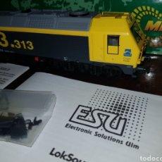 Trenes Escala: LOCOMOTORA DIESEL D333 MEHANO CARGAS RENFE DIGITAL SONIDO ESU. Lote 177395348