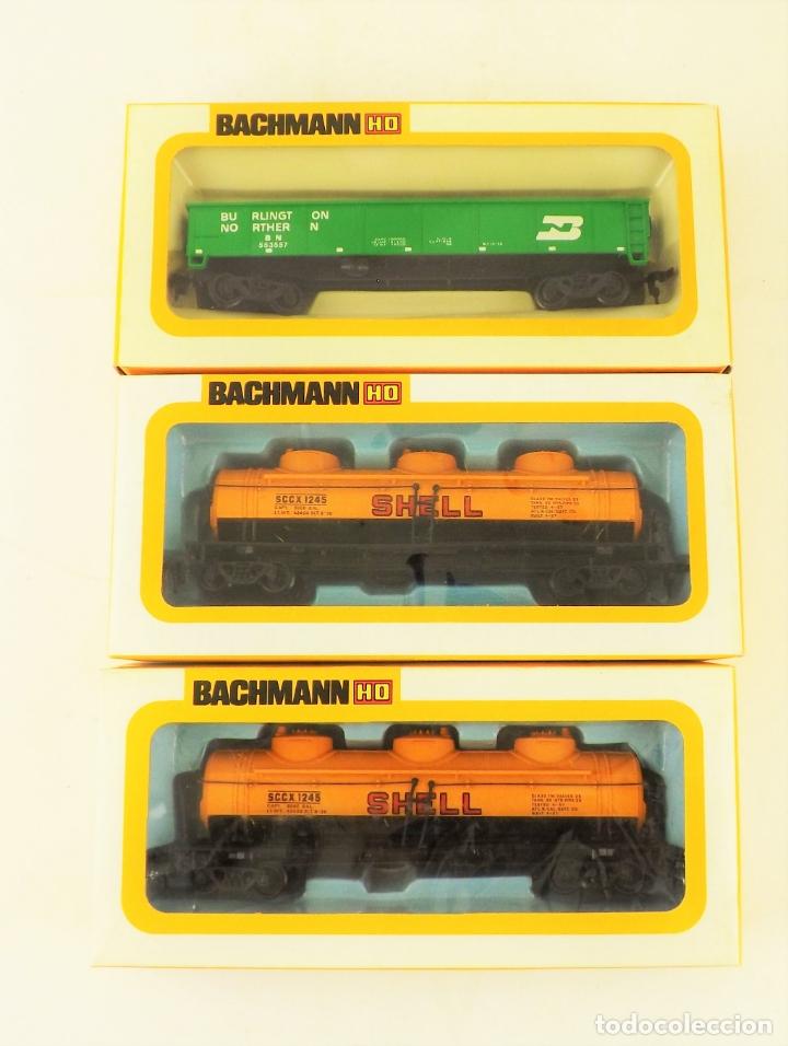Trenes Escala: Bachmann conjunto de tres vagones carga escala H0 - Foto 2 - 177438214