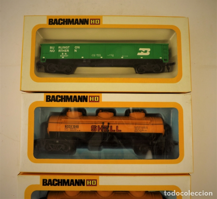 Trenes Escala: Bachmann conjunto de tres vagones carga escala H0 - Foto 3 - 177438214