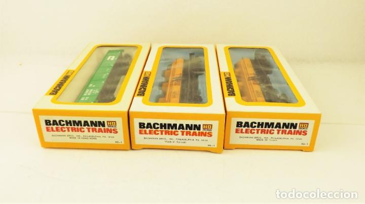 Trenes Escala: Bachmann conjunto de tres vagones carga escala H0 - Foto 5 - 177438214