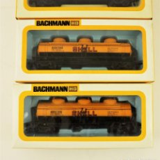 Trenes Escala: BACHMANN CONJUNTO DE TRES VAGONES CARGA ESCALA H0. Lote 177438214