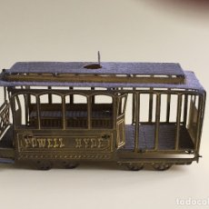 Trenes Escala: TRANVIA EN METAL DE SAN FRANCISCO, POWELL HYDE.. Lote 177606835