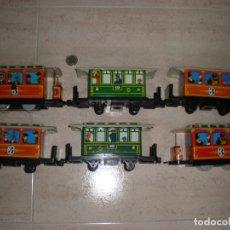 Trenes Escala: COMPILACIÓN DE MAQUINA Y VAGONES. Lote 178811345