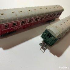 Trenes Escala: LOTE VAGON RESTAURANTE Y PASAJEROS TREN A ESCALA H0 JOUEF. Lote 180337433