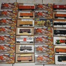 Trenes Escala: ATHEARN LOTE DE 13 VAGONES AMERICANOS ESCALA H0. Lote 180432705