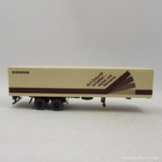 Trenes Escala: WIKING TRAILER 2 EJES CAJA CERRADA SIEMENS . ESCALA 1/87 H0 (3351). Lote 182329681