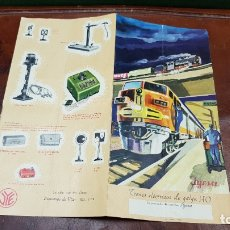 Trenes Escala: JYESA TRENES ELECTRICOS GALGA HO CATALOGO RARO. Lote 182569272