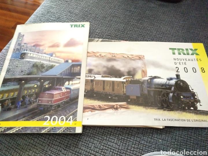 2 CATÁLOGOS DE TRENES TRIX 2004 Y 2008 FERROVIARIO (Juguetes - Trenes Escala H0 - Otros Trenes Escala H0)