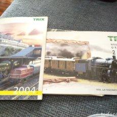 Trenes Escala: 2 CATÁLOGOS DE TRENES TRIX 2004 Y 2008 FERROVIARIO. Lote 182964601