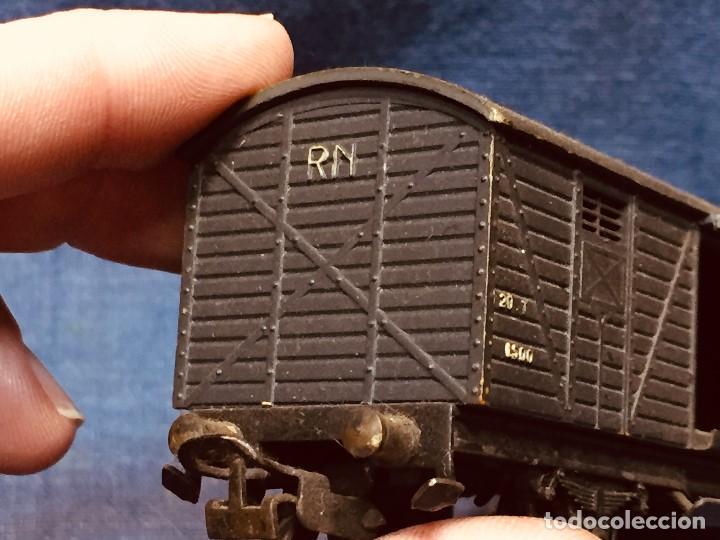 Trenes Escala: vagón de tren hojalata jyesa mercancías verde completo a falta de puertas ibi españa 12,5 x 3,5 cm - Foto 13 - 183973518