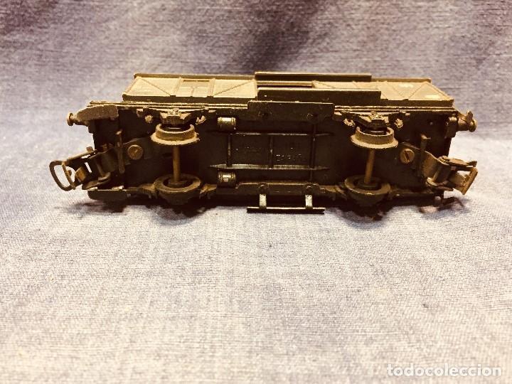 Trenes Escala: vagón de tren hojalata jyesa mercancías verde completo a falta de puertas ibi españa 12,5 x 3,5 cm - Foto 6 - 183973518