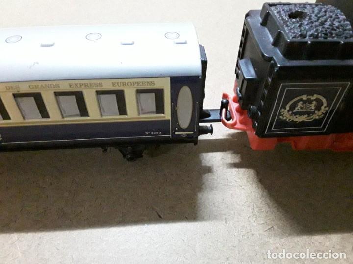 Trenes Escala: Tren pequetren orient express,locomotora y 3 vagones - Foto 5 - 184573806