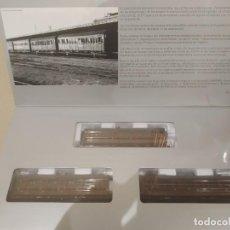 Trenes Escala: SET TRES VAGONES COCHE PASAJEROS -MABAR- REF. 81600 ESCALA H0 -NUEVO, PERFECTO-. Lote 184679352