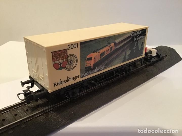 Trenes Escala: VAGÓN MARKLIN H0 CONMEMORATIVO DE FERIA DE MODELISMO FERROVIARIO. - Foto 2 - 184894962