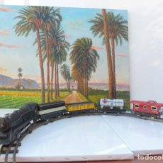 Trenes Escala: JUGUETE TREN ELECTRICO HOJALATA MARX & CO. CON SU CAJA ORIGINAL. Lote 186104310