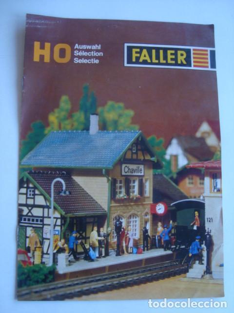 CATÁLOGO FALLER HO AUSWAHL / SÉLECTION / SELECTIE (AÑOS 70). 8 PÁG. TRILINGÜE. H0 (Juguetes - Trenes Escala H0 - Otros Trenes Escala H0)