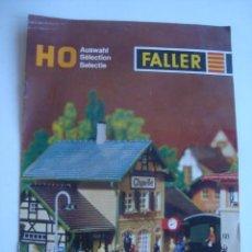 Trenes Escala: CATÁLOGO FALLER HO AUSWAHL / SÉLECTION / SELECTIE (AÑOS 70). 8 PÁG. TRILINGÜE. H0. Lote 186290537