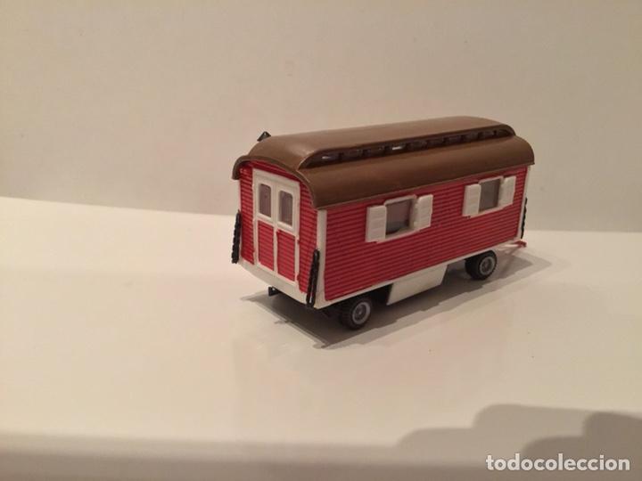 Trenes Escala: JIFFY VENDE PREISER MODELL H0 20005 20006. CARROMATOS O CARAVANAS DE FERIA O CIRCO. PINTADOS A MANO. - Foto 15 - 189548402