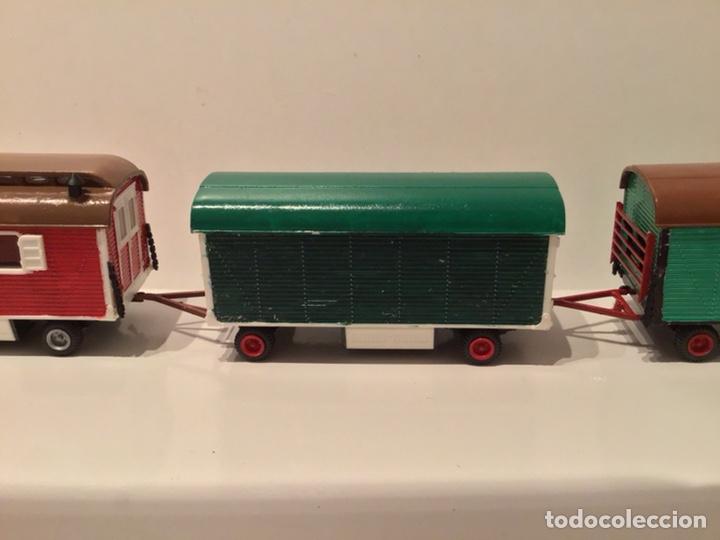 Trenes Escala: JIFFY VENDE PREISER MODELL H0 20005 20006. CARROMATOS O CARAVANAS DE FERIA O CIRCO. PINTADOS A MANO. - Foto 17 - 189548402