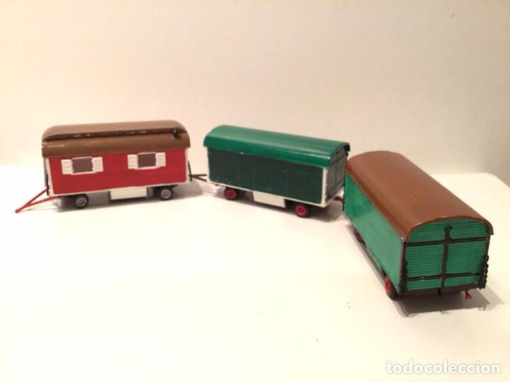 Trenes Escala: JIFFY VENDE PREISER MODELL H0 20005 20006. CARROMATOS O CARAVANAS DE FERIA O CIRCO. PINTADOS A MANO. - Foto 18 - 189548402