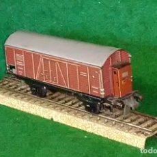 Trenes Escala: LOTE OFERTA VAGON DE TREN DE MERCANCIAS - TRIX GERMANY - 100% METAL - COMPATIBLE CON VIAS H0 / 00. Lote 189680813