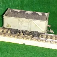 Trenes Escala: LOTE OFERTA VAGON DE TREN DE MERCANCIAS TRANSPORTE DE CARBON - ENGLAND - COMPATIBLE CON VIAS H0 / 00. Lote 189782192