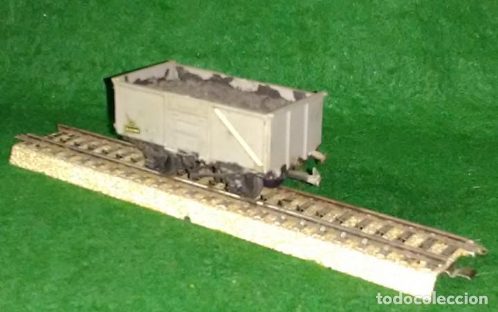 Trenes Escala: LOTE OFERTA VAGON DE TREN DE MERCANCIAS TRANSPORTE DE CARBON - ENGLAND - COMPATIBLE CON VIAS H0 / 00 - Foto 2 - 189782192