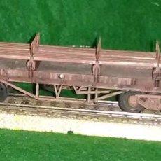 Trenes Escala: LOTE OFERTA VAGON DE TREN TRANSPORTE DE VIGAS - LIMA ITALIA - COMPATIBLE CON VIAS H0 / 00. Lote 189788838