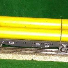 Trenes Escala: LOTE OFERTA VAGON DE TREN TRANSPORTE DE TUBOS - IEMMEQU - COMPATIBLE CON VIAS H0 / 00. Lote 189788977