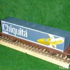 Trenes Escala: LOTE OFERTA VAGON DE TREN PORTA CONTENEDORES - LIMA ITALIA - COMPATIBLE CON VIAS H0 / 00. Lote 189789063
