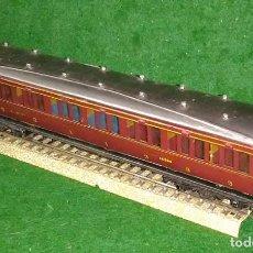 Trenes Escala: LOTE TREN ANTIGUO VAGON LARGO DE PASAJEROS 100% METAL - MECCANO ENGLAND- COMPATIBLE CON VIAS H0 / 00. Lote 189791595