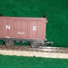 Trenes Escala: LOTE OFERTA TREN - VAGON DE MERCANCIAS - RATIO ENGLAND - COMPATIBLE CON VIAS H0/00. Lote 189969417