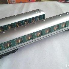 Trenes Escala: LOTE DE 2 VAGONES COCHES DE PASAJEROS H0, CLUB DEL COLECCIONISTA.VÁLIDOS IBERTREN,ROCO,MARKLIN,ETC. Lote 191318431