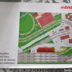 Trenes Escala: PLANOS CIRCUITOS MARKLIN HO. Lote 191478488